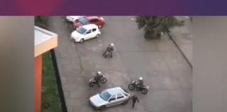 huye de motopolicías